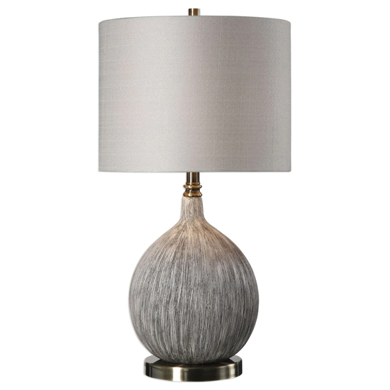 Hedera Table Lamp In Old Ivory With Aged Black Undertones