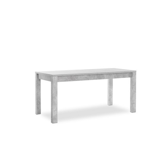 Helena Wooden Extendable Dining Table In Structured Concrete_3