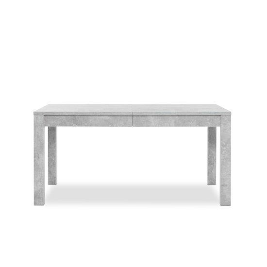 Helena Wooden Extendable Dining Table In Structured Concrete_4