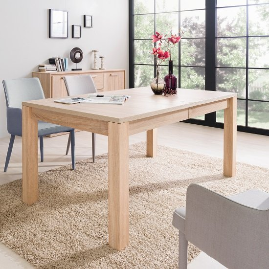 Helena Wooden Extendable Dining Table In Sonoma Oak_1