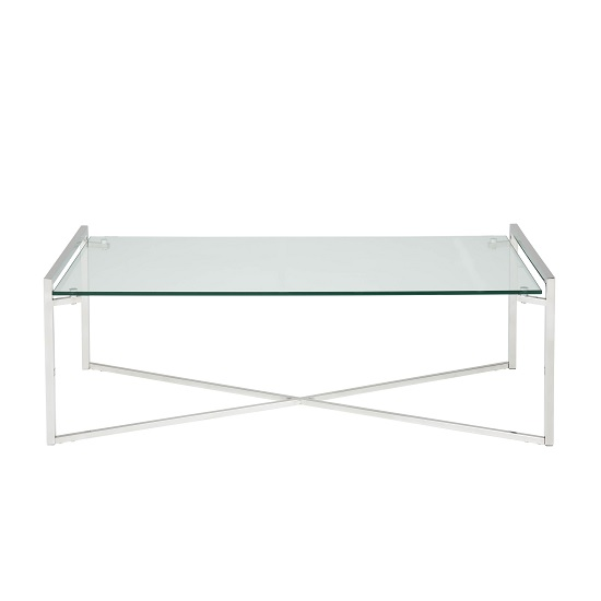 Hendrix Glass Coffee Table Rectangular In Clear With Steel Base_2