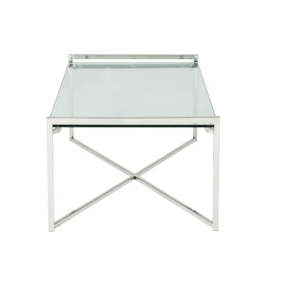 Hendrix Glass Coffee Table Rectangular In Clear With Steel Base_3