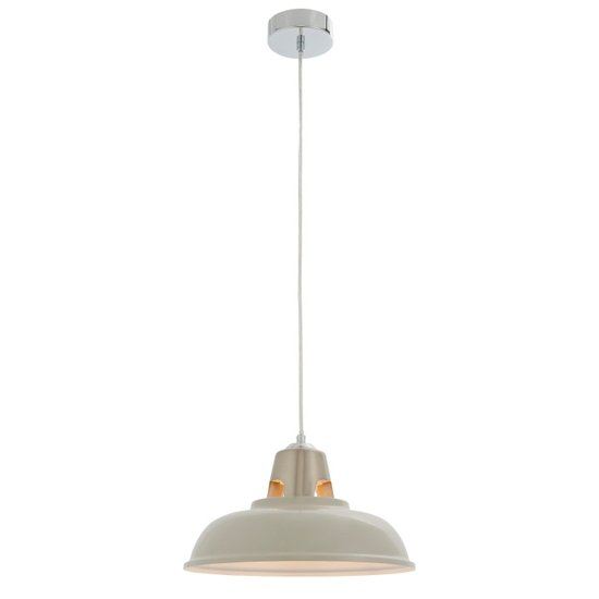 Henley Wall Hung Pendant Light In Taupe