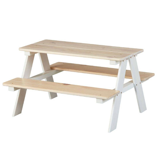 Henning Wooden Children Desk And Seat In Solid Pine_2