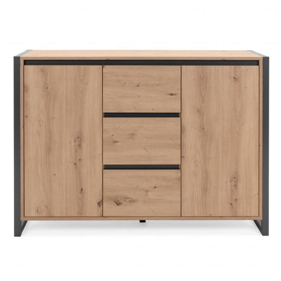 Hercules Wooden Sideboard In Artisan Oak And Anthracite_2