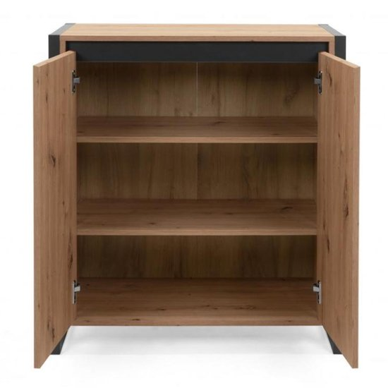 Hercules Wooden Storage Unit In Artisan Oak And Anthracite_3