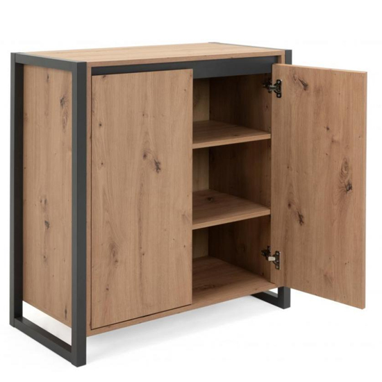 Hercules Wooden Storage Unit In Artisan Oak And Anthracite_4