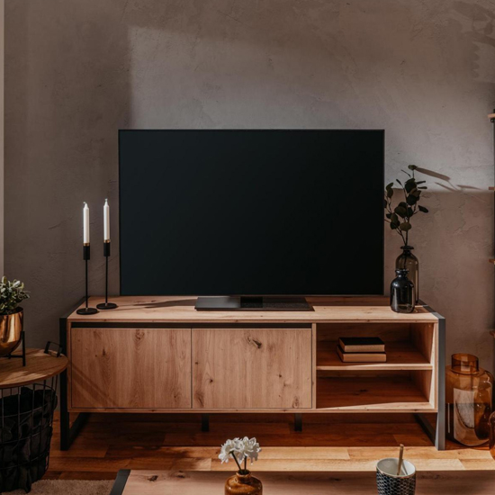 Hercules TV Stand In Artisan Oak And Anthracite Grey