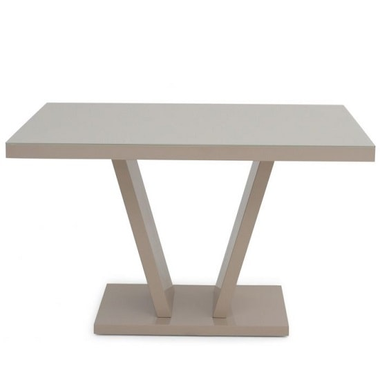Hereford Glass Dining Table With Cream High Gloss