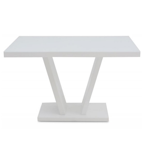 Hereford Glass Dining Table With White High Gloss