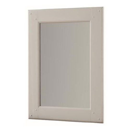 Heritage Rectangular Wall Bedroom Mirror In Stone Painted