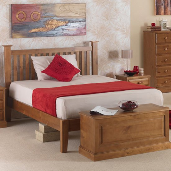 Herndon Wooden Single Bed In Lacquered