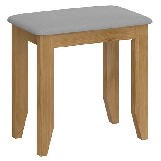 Heston Wooden Stool In Pine And Grey