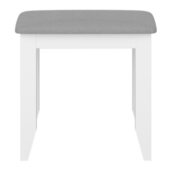 Heston Wooden Stool In White And Grey_2
