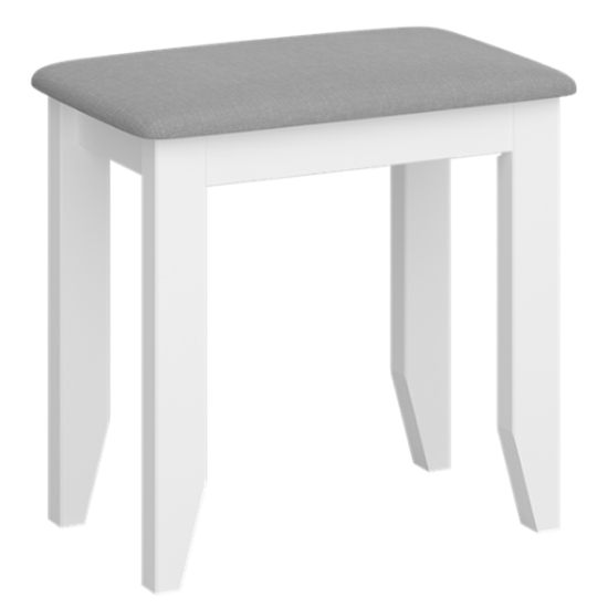 Heston Wooden Stool In White And Grey_1