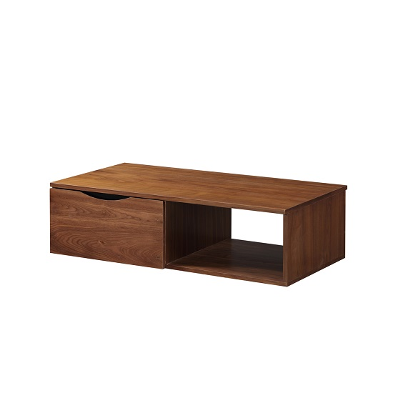 Heyford Wooden Coffee Table In Walnut With Storage