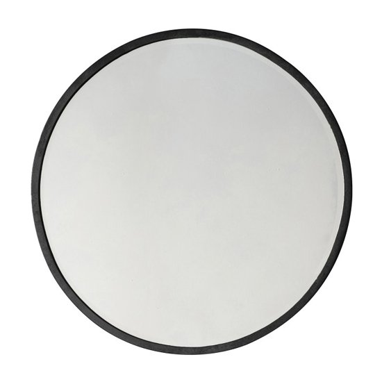 Higgins Large Round Wall Bedroom Mirror In Black
