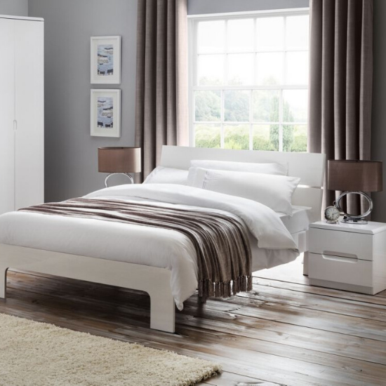 Choose from our beautifully designed high gloss beds and frames with storage