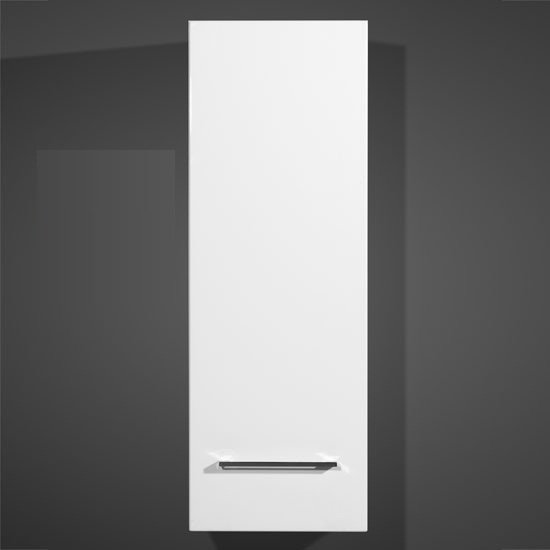 Cool Wall Mounted Cabinet In High Gloss White With 1 Door