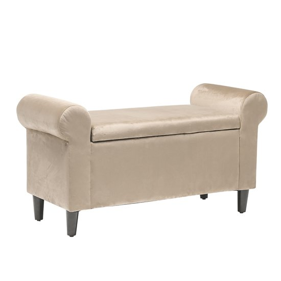 Highgrove Storage Ottoman In Beige
