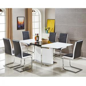 high gloss dining table and chairs sets UK