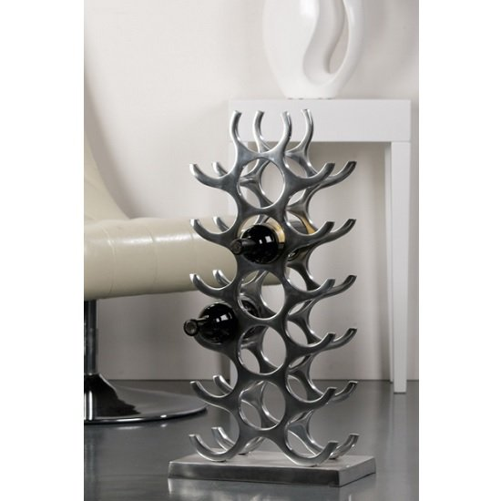 Hightower Stylish Wine Rack Stand In Aluminium