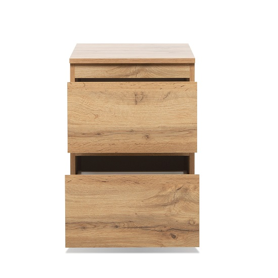 Hilary Wooden Bedside Cabinet In Golden Oak With 2 Drawers_2