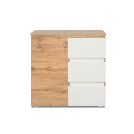 Hilary Contemporary Wooden Chest Of Drawers In Oak And White_3