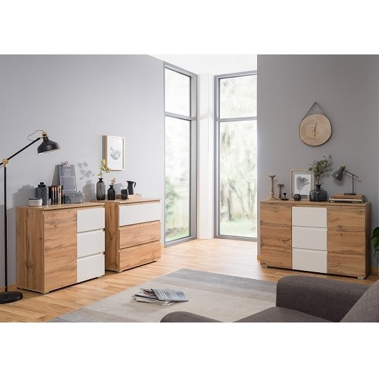 Hilary Contemporary Wooden Chest Of Drawers In Oak And White_4