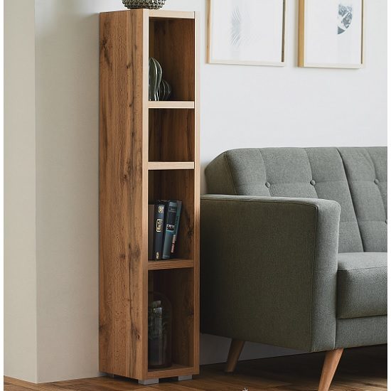 Hilary Shelving Unit In Golden Oak With 4 Open Compartments