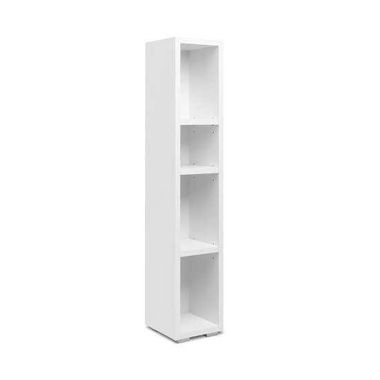 Hilary Shelving Unit In White With 4 Open Compartments
