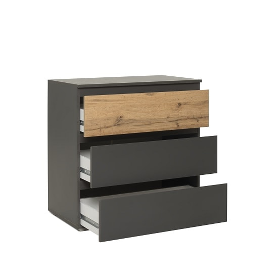 Hilary Chest Of Drawers In Anthracite And Oak With 3 Drawers_2