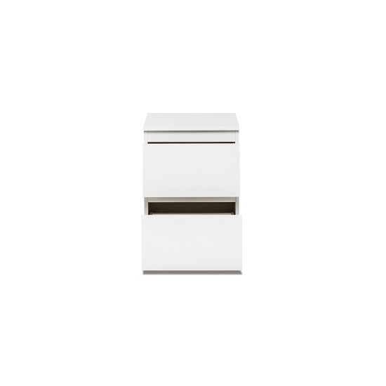 Hilary Contemporary Wooden Bedside Cabinet In White_2