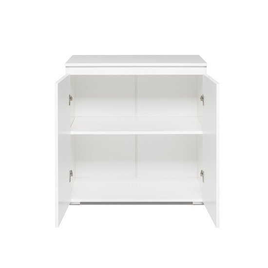 Hilary Wooden Compact Sideboard In White_2