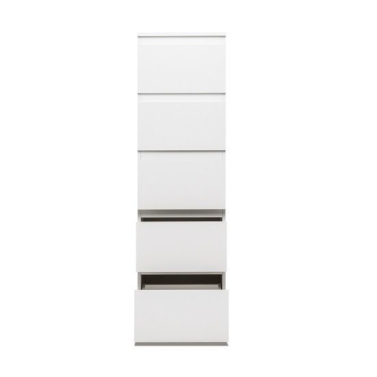 Hilary Contemporary Wooden Tall Chest Of Drawers In White_2