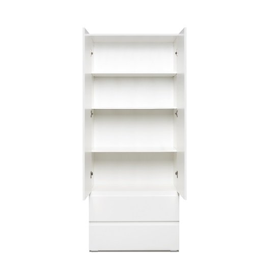 Hilary Contemporary Wooden Wardrobe In White_3
