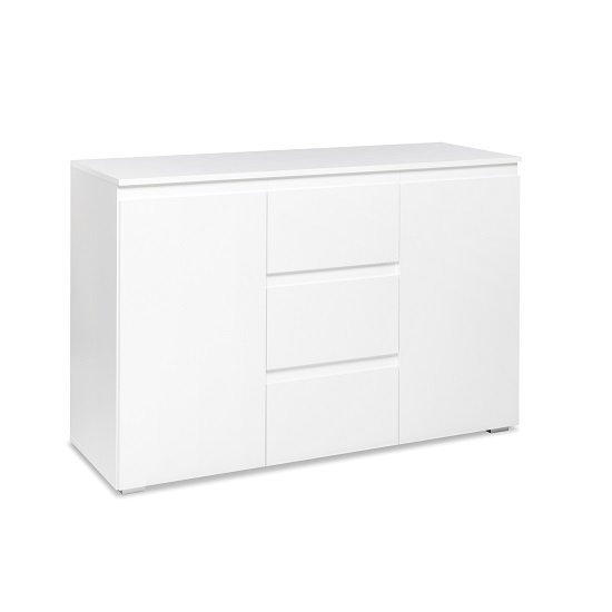 Hilary Contemporary Wooden Sideboard In White_2