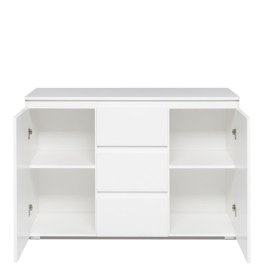Hilary Contemporary Wooden Sideboard In White_3