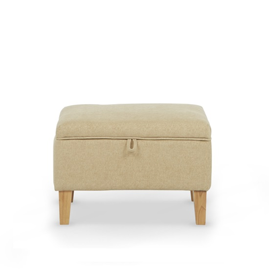 Hilton Fabric Lounge Chair With Foot Stool In Oatmeal_4