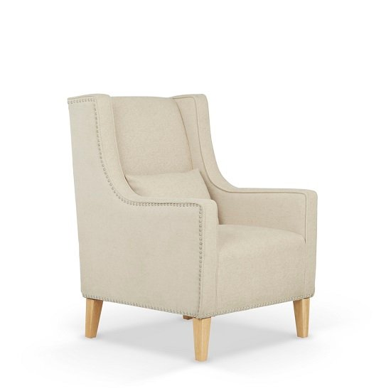 Hilton Fabric Lounge Chair With Foot Stool In Cream_2