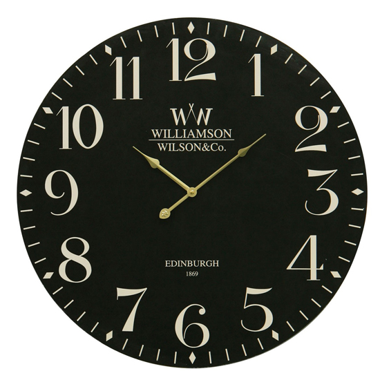 Hista Classical Wooden Wall Clock In Black