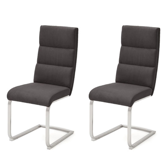 Hiulia Anthracite Cantilever Dining Chair In A Pair_1