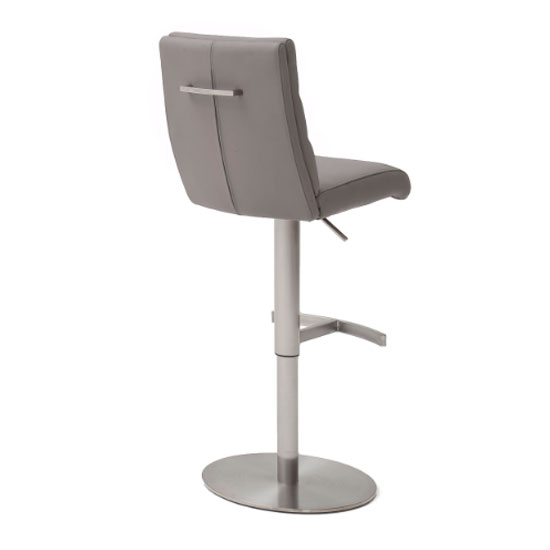 Hiulia Leather Bar Stool In Ice Grey With Steel Base_2