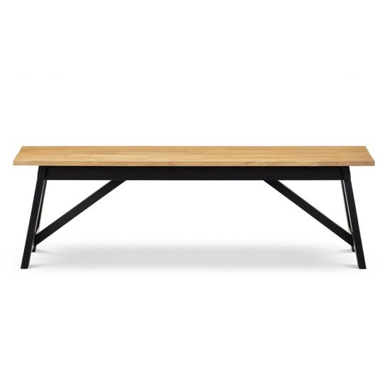 Hockley Wooden Dining Bench In Black And Oak_2