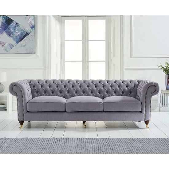 Holbrook Chesterfield 3 Seater Sofa In Grey Linen_2