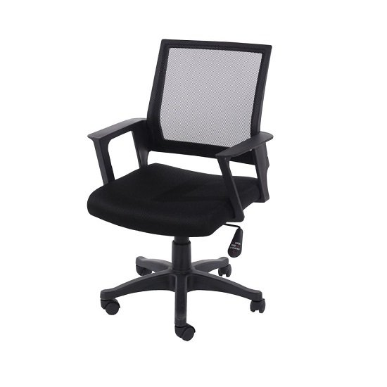 Holden Black Mesh Back Office Chair With Black Fabric Seat_1
