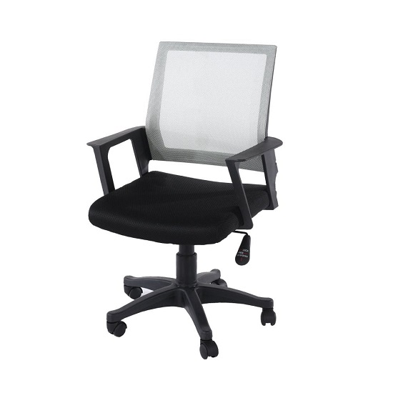 Holden Grey Mesh Back Office Chair With Black Fabric Seat_1