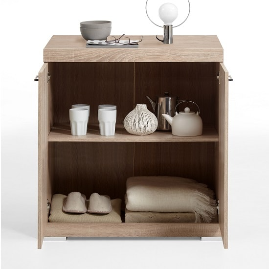 Holte Wooden Compact Sideboard In Oak Tree With 2 Doors_2
