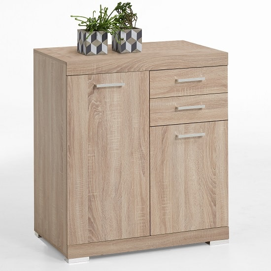Holte Wooden Sideboard In Oak Tree With 2 Doors And 2 Drawers