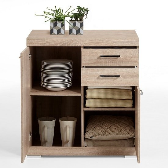 Holte Wooden Sideboard In Oak Tree With 2 Doors And 2 Drawers_2